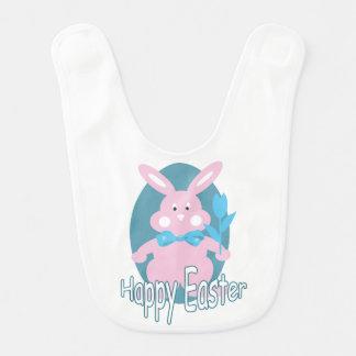 Baby Girl Happy Easter Bunny Bib