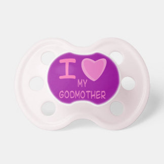 baby girl i love heart my godmother baby pacifiers