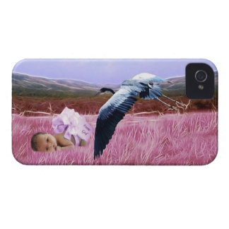 Baby girl in pink iPhone 4 Case-Mate cases