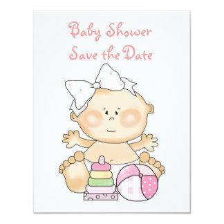 Baby Girl Invitations/Announcements Cards 11 Cm X 14 Cm Invitation Card