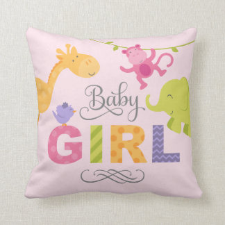 Baby Girl | Jungle Animals Cushion