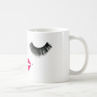 baby girl lashes coffee mug