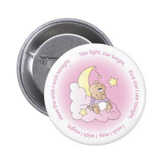 Baby Girl Make a Wish Pinback Buttons