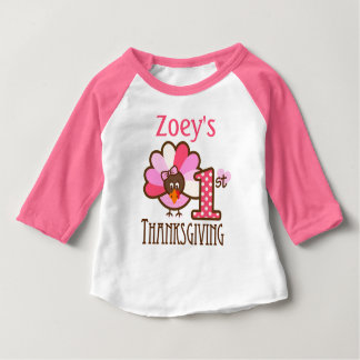 Baby Girl My First Thanksgiving Top