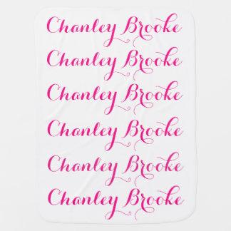 Baby Girl Name Blanket Pramblanket