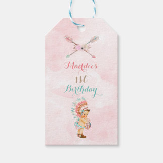 Baby Girl Native Headdress Moccasins Pink Aqua