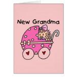 Baby Girl New Grandma T-shirts and Gifts Greeting Card