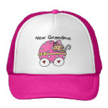 Baby Girl New Grandma T-shirts and Gifts Mesh Hat