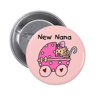 Baby Girl New Nana T-shirts and Gifts 6 Cm Round Badge
