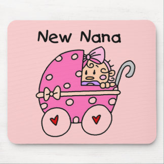 Baby Girl New Nana T-shirts and Gifts Mouse Mat