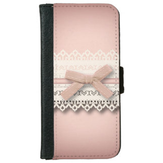 baby girl nursery princess lace blush pink bow iPhone 6 wallet case