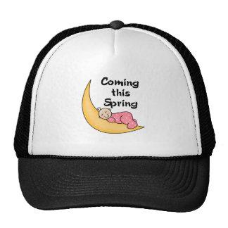 Baby Girl on Moon Spring Cap