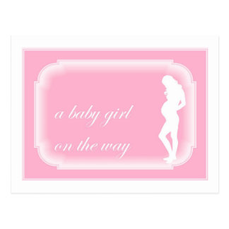 Baby Girl on the Way Postcard