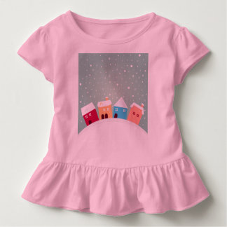Baby girl original t-shirt with Snowy country
