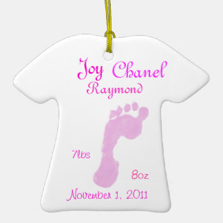 Baby Girl Ornament with Personalised Text