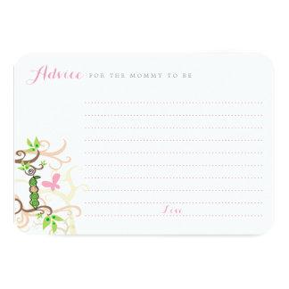 Baby Girl Pea In A Pod Garden Mommy Advice Card 9 Cm X 13 Cm Invitation Card