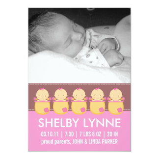 Baby Girl Photo Card Birth Announcements