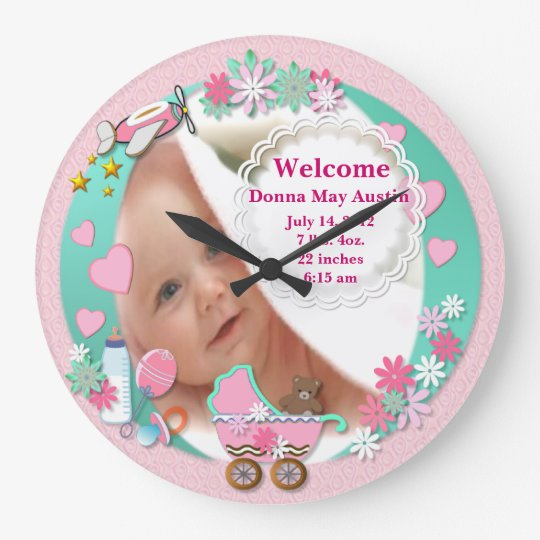 Baby Girl Photo Clock # 2