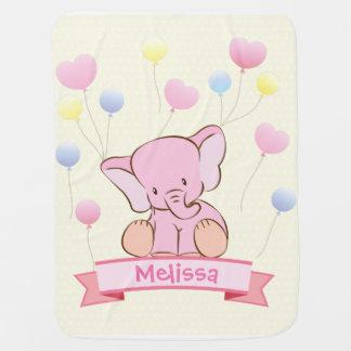 Baby Girl Pink Elephant Baby Blanket