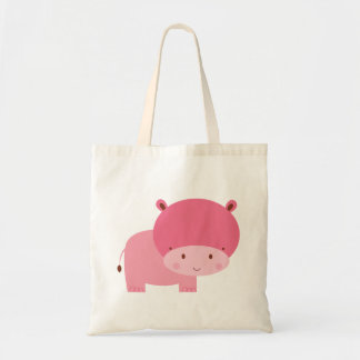 Baby Girl Pink Hippo Tote Bag
