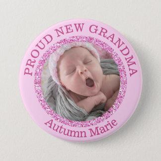 Baby Girl Pink  Proud Grandma Button