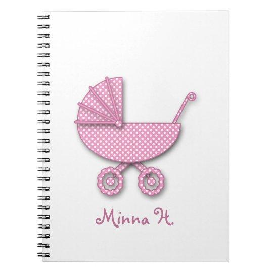 baby girl polka dot notebook