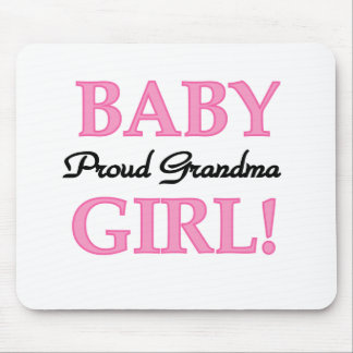 Baby Girl Proud Grandma  Mouse Pad