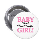 Baby Girl Proud Great Grandpa Pins