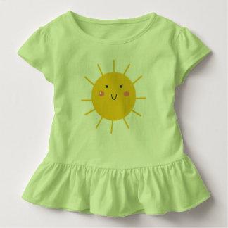 Baby girl ruffle tee with Sun