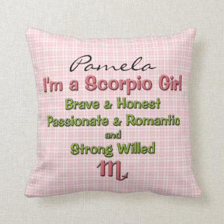 Baby Girl Scorpio Zodiac Personalized Pillow