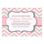 Baby girl shower colourful chevron