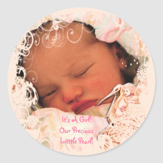 Baby Girl Stickers with your baby photo