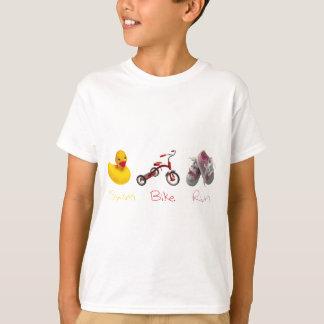 Baby Girl Swim Biek Run T-Shirt