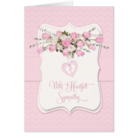 Baby Girl Sympathy in Pink Roses and Tiny