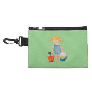 Baby Girl Toddler on Summer Beach Birthday Mint Accessories Bag