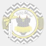 Baby Girl Tutu Chevron Print Baby Shower