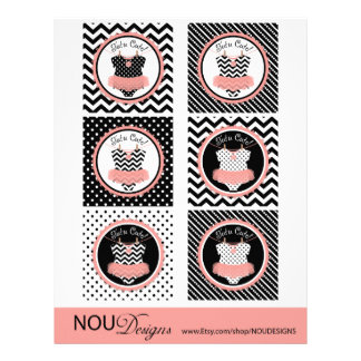 Baby Girl Tutu Jumper Mix Print Cupcake Toppers 21.5 Cm X 28 Cm Flyer