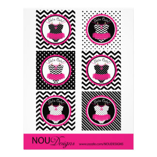 Baby Girl Tutu Mix Print Large Cupcake Toppers 21.5 Cm X 28 Cm Flyer