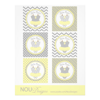 Baby Girl Tutu Mix Print Large Cupcake Toppers Flyer