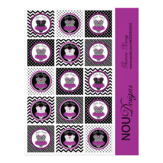 Baby Girl Tutu Mix Print Small Cupcake Toppers 21.5 Cm X 28 Cm Flyer