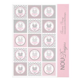 Baby Girl Tutu Mix Print Small Cupcake Toppers Flyer