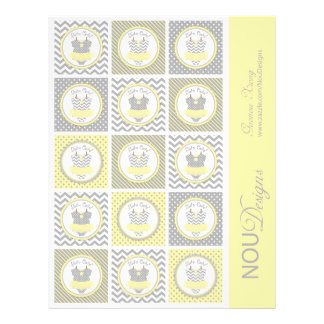 Baby Girl Tutu Mix Print Small Cupcake Toppers Full Color Flyer