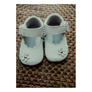 Baby girl white shoes pack of chubby business cards