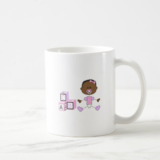 BABY GIRL WITH BUILDING BLOCKS MUGS