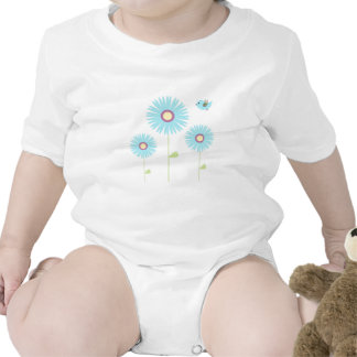 Baby Girl with Flowers Baby Bodysuit