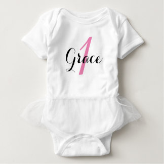 Baby Girl's 1st Birthday Tutu Bodysuit