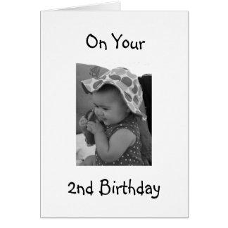 **BABY GIRL'S 2nd BIRTHDAY** CARD
