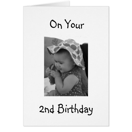 **BABY GIRL'S 2nd BIRTHDAY** CARD