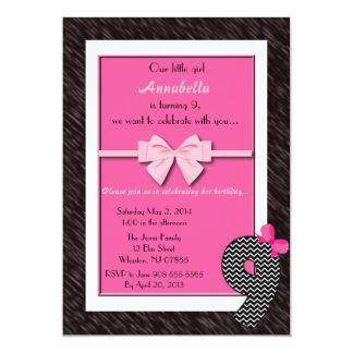 Baby Girls 9th Birthday 13 Cm X 18 Cm Invitation Card