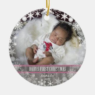 Baby girls First Christmas Christmas Ornament